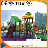 子供の上昇の棚(WK-A1111A)が付いているプラスチック屋外の運動場のスライド