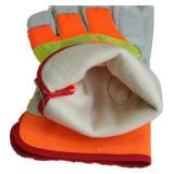 こんにちは気力のブタのグレーンレザーのThinsulateのライニングの冬の手袋