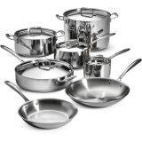 Cookware 12piece stabilito (CX-SS1205) tre volte dell'acciaio inossidabile