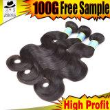Unprocessed бразильское выдвижение волос целесообразное для перепродает