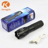 전화를 위한 손 누르기 플래쉬 등 T6 고성능 Zoomable USB 가벼운 토치