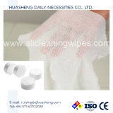 De rond Samengeperste Hand van Spunlace van de Handdoek van de Handdoek Magische Niet-geweven Samengeperste veegt af