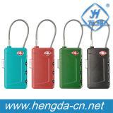 Tsa 안전 수화물 케이블 콤비네이션 자물쇠 (YH1054)