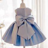 Синий Satin валика клея девушка платье