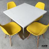 中国の人工的な石造りの白いダイニングテーブルおよび椅子(T1712205)