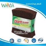 Forme Bow Tie pour laver la vaisselle abrasif Scourer tampon à récurer de couleur marron