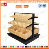 La pantalla de madera de acero de supermercados Tienda estantes estantes de vino (Zhs174)