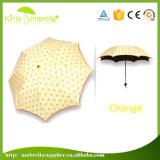 O manual abre 3 o guarda-chuva pequeno da dobra 21inch 8ribs