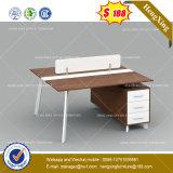 Siège unique directement la station de travail de bureau Bureau du personnel de la partition en cluster (HX-8NE1066)