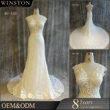 高品質新しいデザイン人魚によって刺繍されるレースの婚礼衣裳