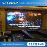 Breiter Betrachtungs-Winkel P6.25mm örtlich festgelegter LED-Innenbildschirm mit dem 500*500mm Schrank