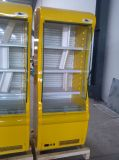 Deck de vários supermercados refrigerador de tela de abertura vertical
