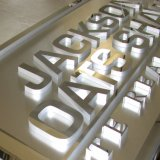 3D 스테인리스 프레임과 아크릴 물자 LED 점화 편지 표시