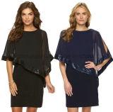 Soem-heißes Verkaufs-Polyester-Formsequin-Abend-Kleid