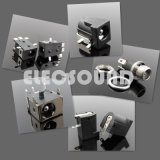 CC Jack Black 2.0mm/2.1mm elettrici di plastica