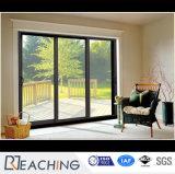 Мода дизайн Metel сдвижной двери и двойное остекление окон и дверей из алюминия &окно с D-Shap запирания на ручке