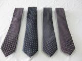 Cor violeta moda masculina de gravatas de poliéster