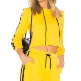 OEM-фантазии желтый длинный полосатый втулку пустым Hoodies