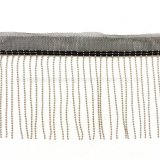 Acessórios de vestuário, acessórios de moda, cadeia de costura da máquina da corrente de cobre metálico pendão, cadeia de cordão cobre&Net Código de Barras de fios, fita para correspondência de vestuário