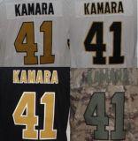 Beste Douane Geborduurde #41 Alvin Kamara Stitched Limited Jersey