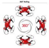 Меньше мини игрушка Quadcopter 6 оси гироскопа, 2,4 ггц, Headfree режиме, 360° Eversion; подвижного состава, высота над уровнем моря в режиме удержания с помощью света
