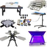 Kit complet 4 Couleur 4 stations de l'écran de l'équipement d'impression Textile sérigraphie de la machinerie
