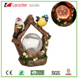 De nieuwe Vogel van de Tuin van de Hars met het Zonne Lichte Ornament van de Tuin van de Bal van Ritselen voor OpenluchtDecoratie, OEM Ontwerpen is Welkom