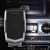 Savorigroup sc1 Haut de la qualité du capteur infrarouge Téléphone titulaire de brevet/accessoires de téléphonie mobile/Qi Chargeur de voiture sans fil pour iPhone/Samsung