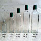 100ml/250ml/500ml/750ml/1000ml de aceite de botellas de vidrio transparente