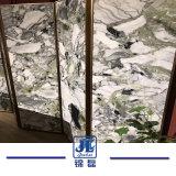 Marmer van de Lijnen van het Conglomeraat van het Ijs van China het Groene Zwarte/Groene/Witte Metamorfose Wanordelijke voor de Binnenlandse Component/Lavabo van de Decoratie