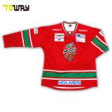 Bon marché de l'équipe de sublimation personnalisée des chandails de hockey sur glace le commerce de gros