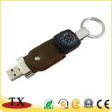 Творческие кожаные компас флэш-накопитель USB и USB Compbum