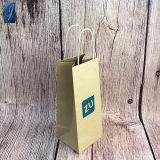 Het recycling van Materiële OEM Bruine Kraftpapier het Winkelen van het Document Zak met het Verdraaide Handvat van het Document