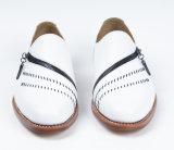 White de hombre zapatos de cuero auténtico de negocios