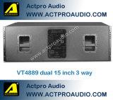 Vt4889 Luidspreker van het Systeem van de Serie van de Lijn van de Prestaties van het Stadium van de Spreker van de Serie van de Lijn van de Hoge Macht de Openlucht Professionele Audio