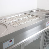 二重円形70cm鍋のアイスクリームロール機械、10のバケツ