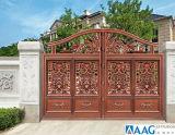 Profil en aluminium de couleur aluminium artistique Gate pour le jardin et de la Cour
