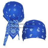 Costume en coton personnalisé Paisley Printed Promo Promotion Sports Bandana Cap Headscarf