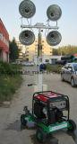 400W * 2 Generador de gasolina telescópica portátil torre de iluminación (FZM-400A)