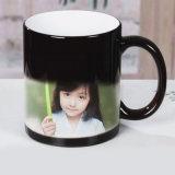 Керамический Coated белый цвет чашки изменяя волшебную кружку сублимации