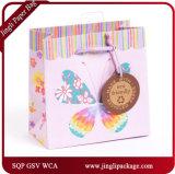 Hot Stamping Foil Sacs de cadeaux floraux quotidiens Sacs en papier cadeau Sacs à provisions de traitement spécial