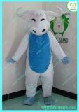 Hi fr71 ventre Bull Mascot Costume Bleu