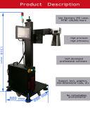 管、付属品PVC/HDP/PE/CPVC/Plasticの非金属のための20W 30W 50W Ipgのファイバーレーザーのマーキング機械