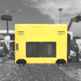 5 квт 5 КВА 5000Вт звуконепроницаемых Silent Электроподогревателя портативный источник питания генератора