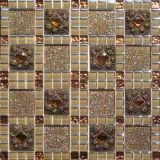 Foshan clásica hermosa hoja de oro mosaico de vidrio (VMW3602, 300x300mm)