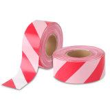 しまのある赤くか白いカラーの経済の障壁の警告テープ中国製