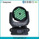 고성능 36X10W RGBW 4in1 LED 이동하는 맨 위 광속 빛