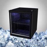 Холодный миниый холодильник с стеклянной дверью