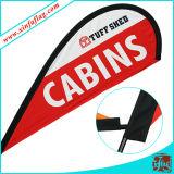 La publicité du drapeau d'indicateur de Swooper de grand dos de clavette de larme de lame de vent