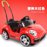 Vierwielig kan de Elektrische Auto's van de Kinderen van de Auto van de Afstandsbediening van de Schommeling duwen